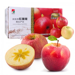 红旗坡 新疆阿克苏苹果 约18枚 约5kg 自营水果