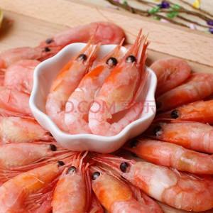 鲜婆湾 加拿大进口熟冻北极虾 500g 45-60只 袋装